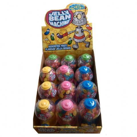 12 x Mini Jelly Bean Machine - Fun Candy Sweets Dispenser - Wholesale Box